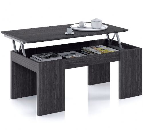 Flower Lift Up Oak Grey Coffee Table - 2449
